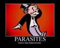 banche, parassiti