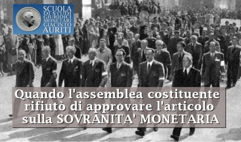 Assemblea Costiuente sovranita monetaria