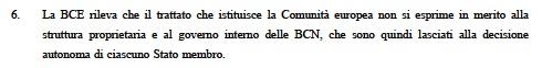bozza Legge262 05 parere2 BCE