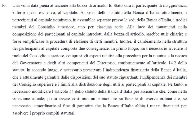 bozza Legge262 05 parere3 BCE