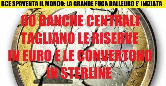 NOTIZIA BOMBA CENSURATA IN ITALIA: 80 BANCHE CENTRALI (DI TUTTO IL MONDO) IN FUGA DALL'EURO, SOSTITUITO DALLA STERLINA